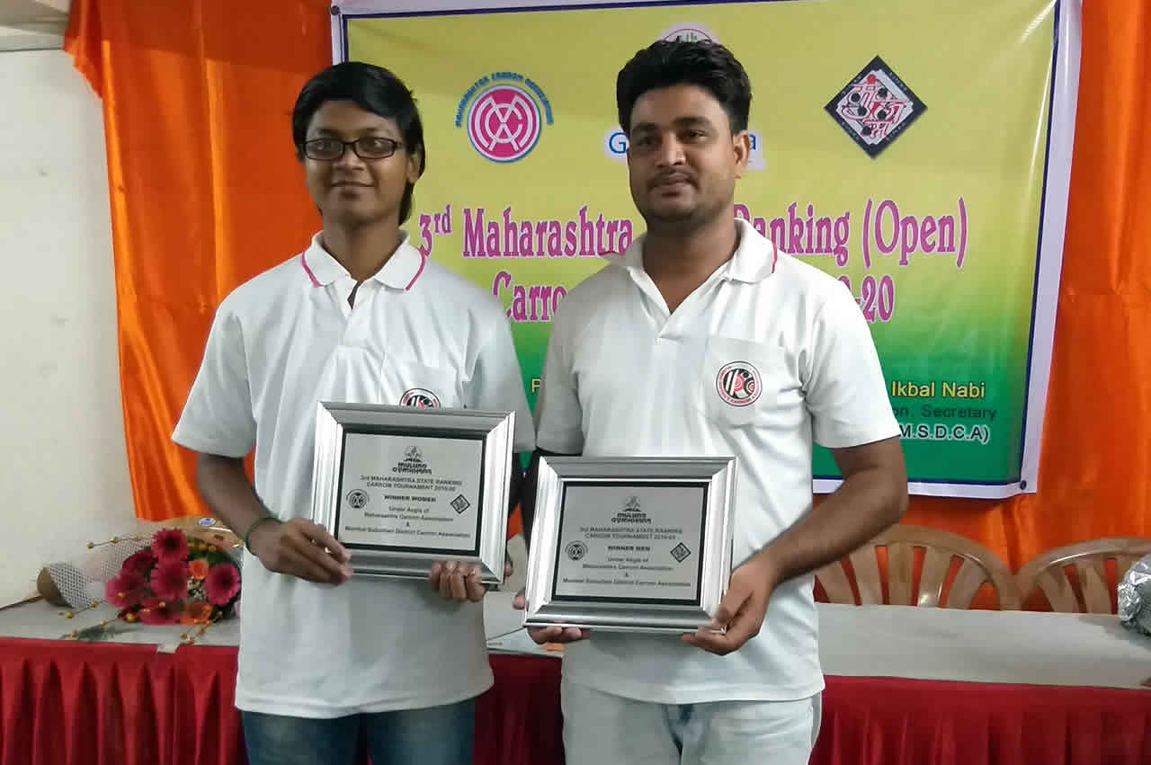 Men Single's Title winner Prashant More (Mumbai)