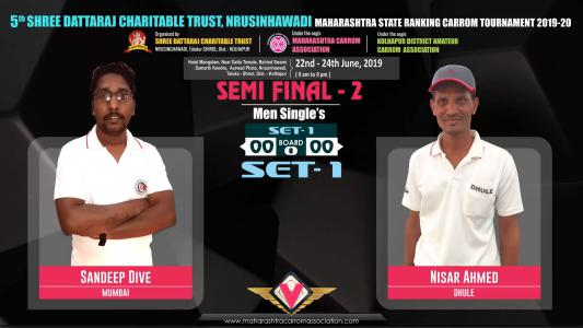 Sandeep Dive (Mumbai) vs Nisar Ahmed (Mumbai)