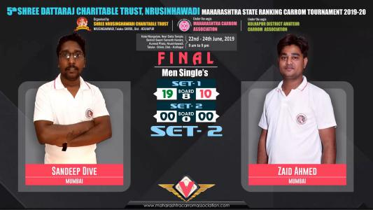 Sandeep Dive (Mumbai) vs Zaid Ahmed (Mumbai)