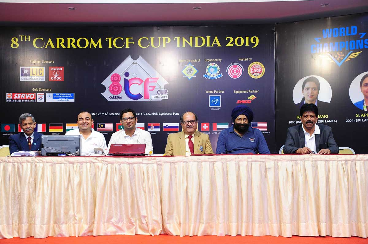 8TH CARROM ICF CUP INDIA 2019, PUNE