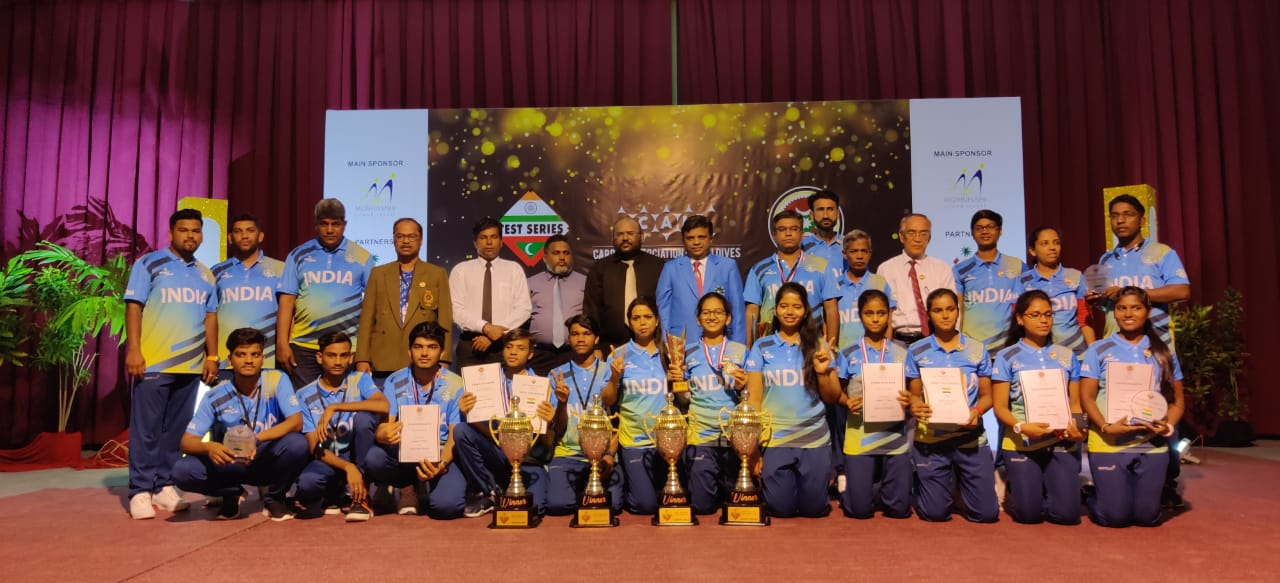 3rd INDO-MALDIVE TEST SERIES & PRESIDENT'S CARROM LEAGUE | INDIAN CARROM TEAM