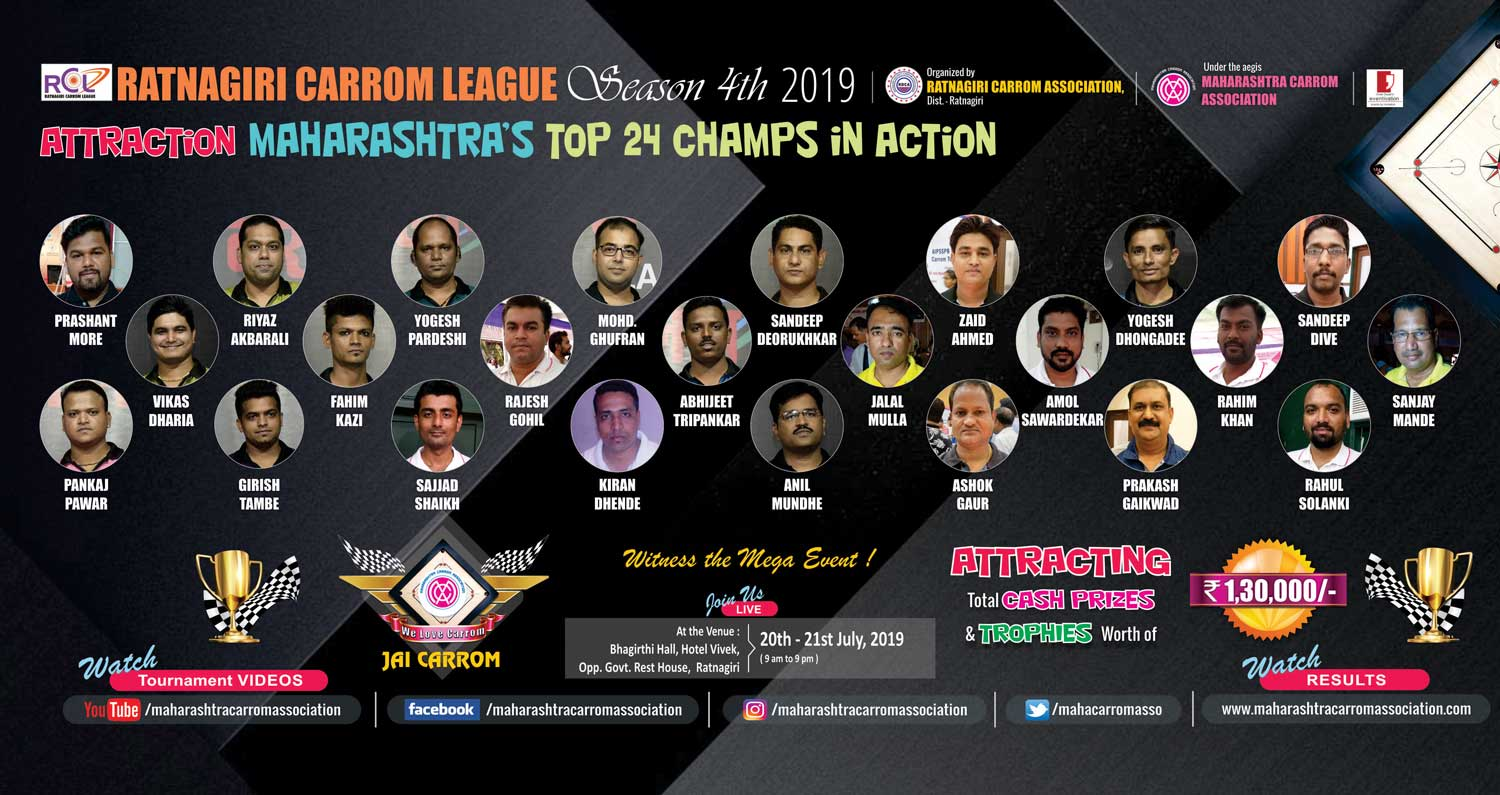 RATNAGIRI CARROM LEAGUE 2019: SEASON-4th